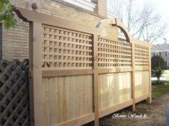 Cool Privacy Fence Wooden Design for Backyard 59