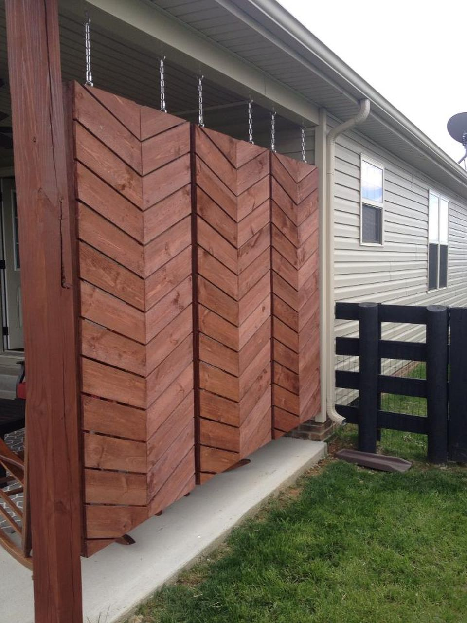 Cool Privacy Fence Wooden Design for Backyard 6 - Hoommy.com