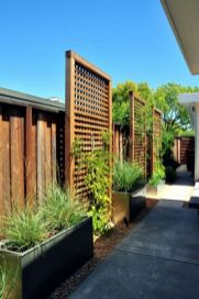 Cool Privacy Fence Wooden Design for Backyard 67