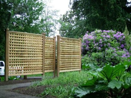 Cool Privacy Fence Wooden Design for Backyard 68