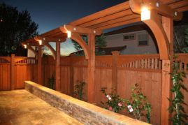 Cool Privacy Fence Wooden Design for Backyard 7