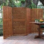 Cool Privacy Fence Wooden Design for Backyard 75