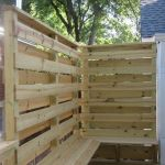 Cool Privacy Fence Wooden Design for Backyard 8