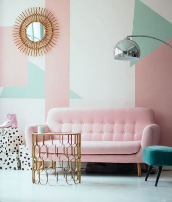 Cozy and Colorful Pastel Living Room Interior Style 31