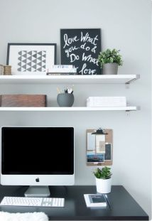 Inspiring Simple Work Desk Decorations and Setup 85