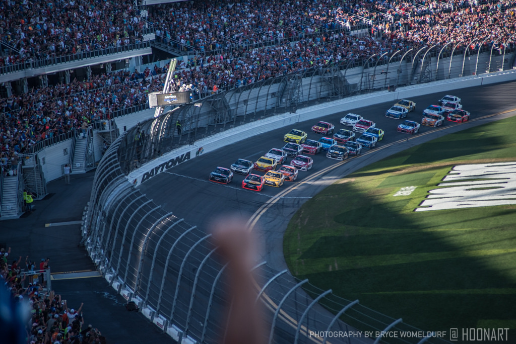Arriving at the finish line of the Daytona 500