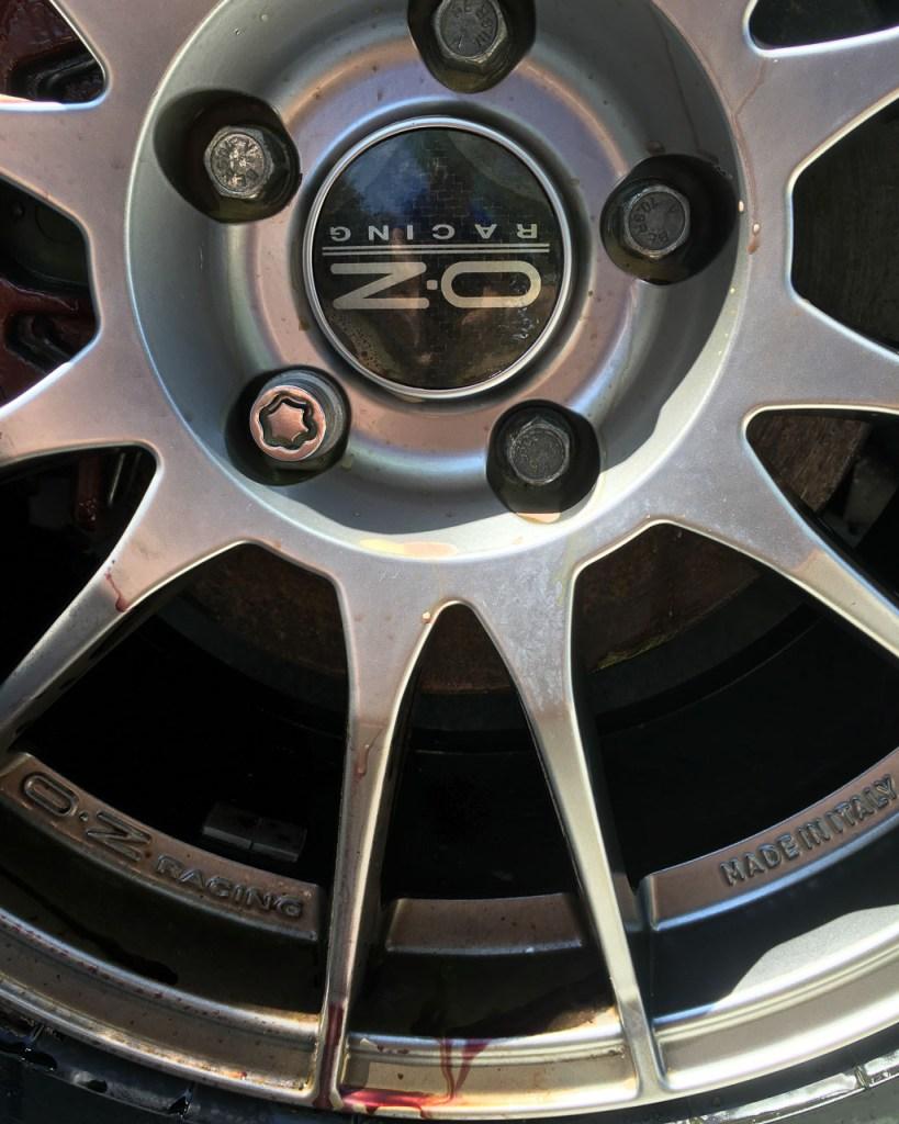 Wheels being cleaned