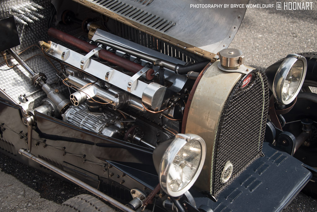 Engine in Bugatti Type 35 Pur Sang at Amelia Island