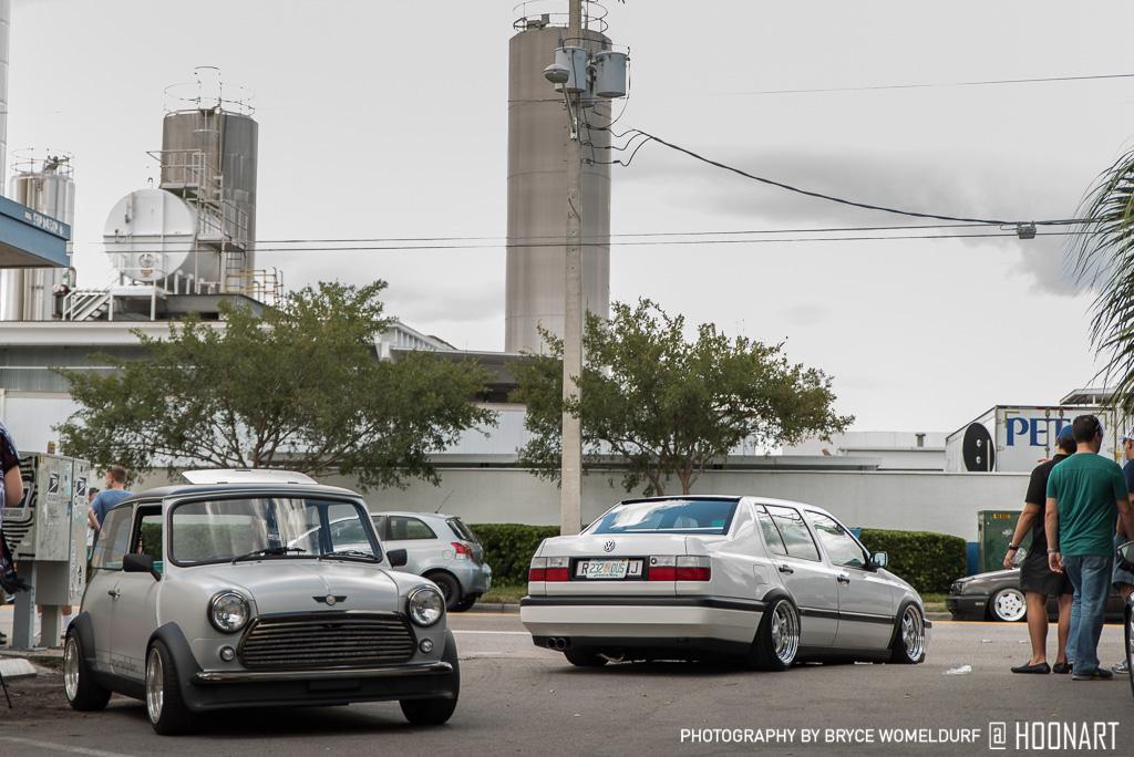 Classic Mini Cooper and Volkswagen Jetta