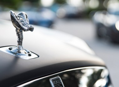 Spirit of Ecstacy hood ornament on a Rolls-Royce