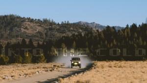 Mitsubishi Montero on an off-road trail