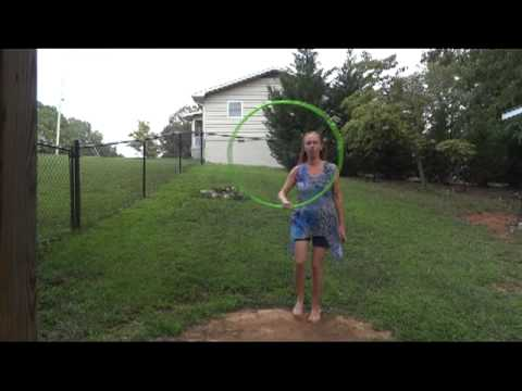 "Hula Hoop Tricks: ""Coin Toss with Backwards Jump"""