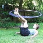 foot hooping hula hoop tricks