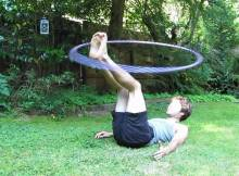 foot hooping hula hoop tricks