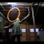 toss to chest roll hula hoop tricks