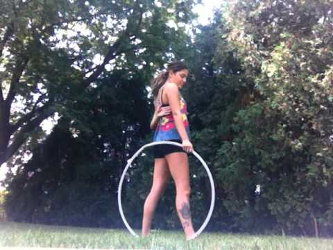 "Hula Hoop Tricks: ""Back Roll Loop-de-Loop"""