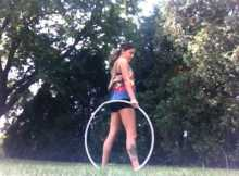 back roll hula hoop tricks