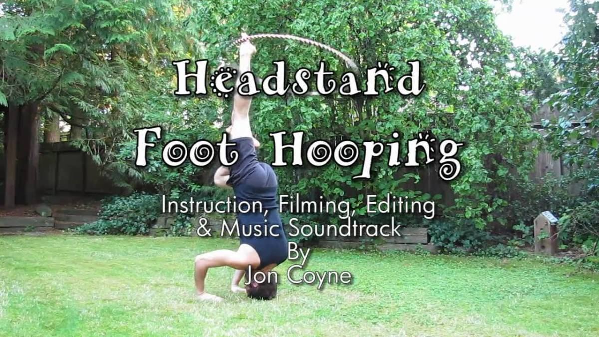 "Hula Hoop Tricks: ""Hooping Headstand"""
