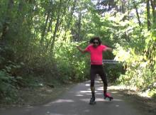 hula hooping roller skating hoopsmiles