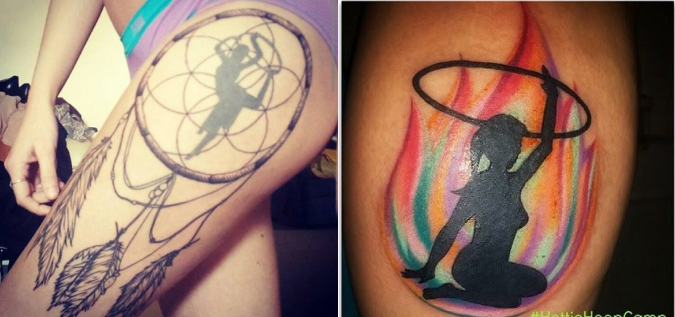 29 Awesome Hula Hooping Tattoos