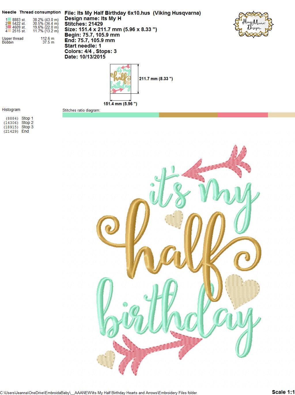 It S My Half Birthday Hearts And Arrows