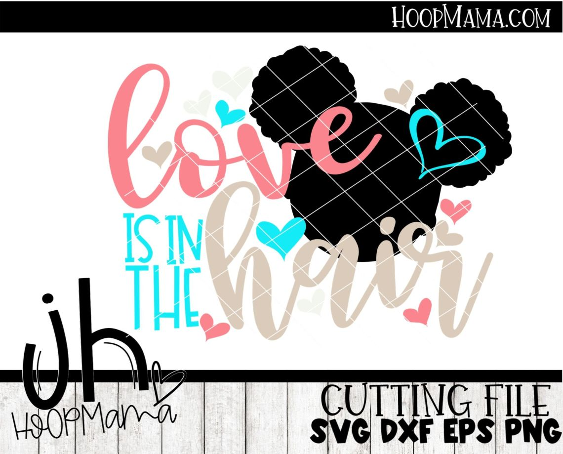 Download Love Is In The Hair - Embroidery and Cutting Options ...