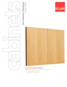 Presentation Cabinets Brochure