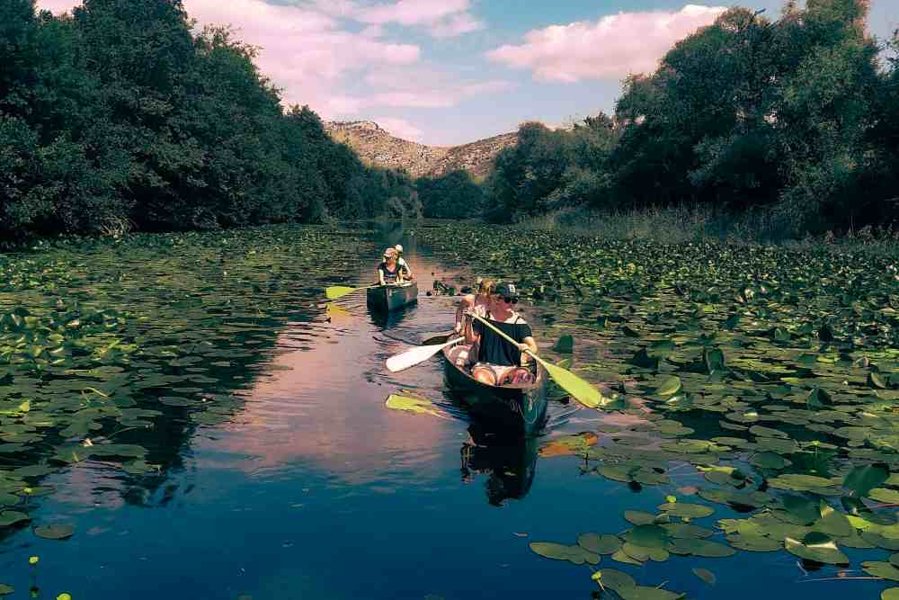 Canoeing Skadar Lake holidays and one day tours