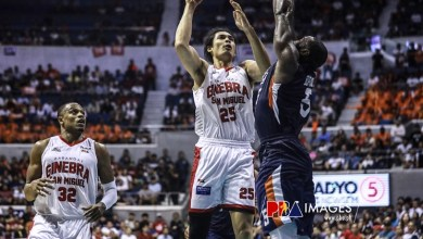 Photo of Japeth Aguilar's defensive gem preserves Brgy. Ginebra's Game 1 win over Meralco