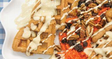 Carrot Cake Waffles - Hooray for Moms