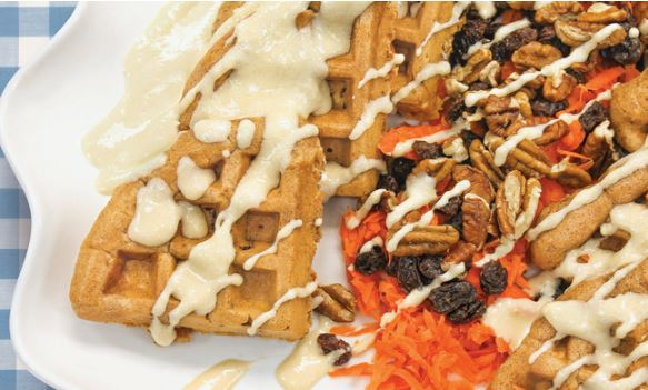 Carrot Cake Waffles - Hooray for Moms