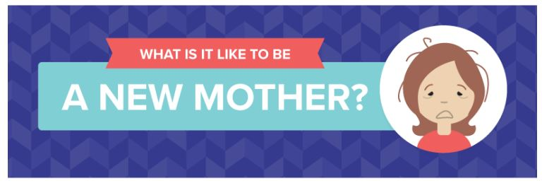 What It's Like to Be a New Mother - Infographic