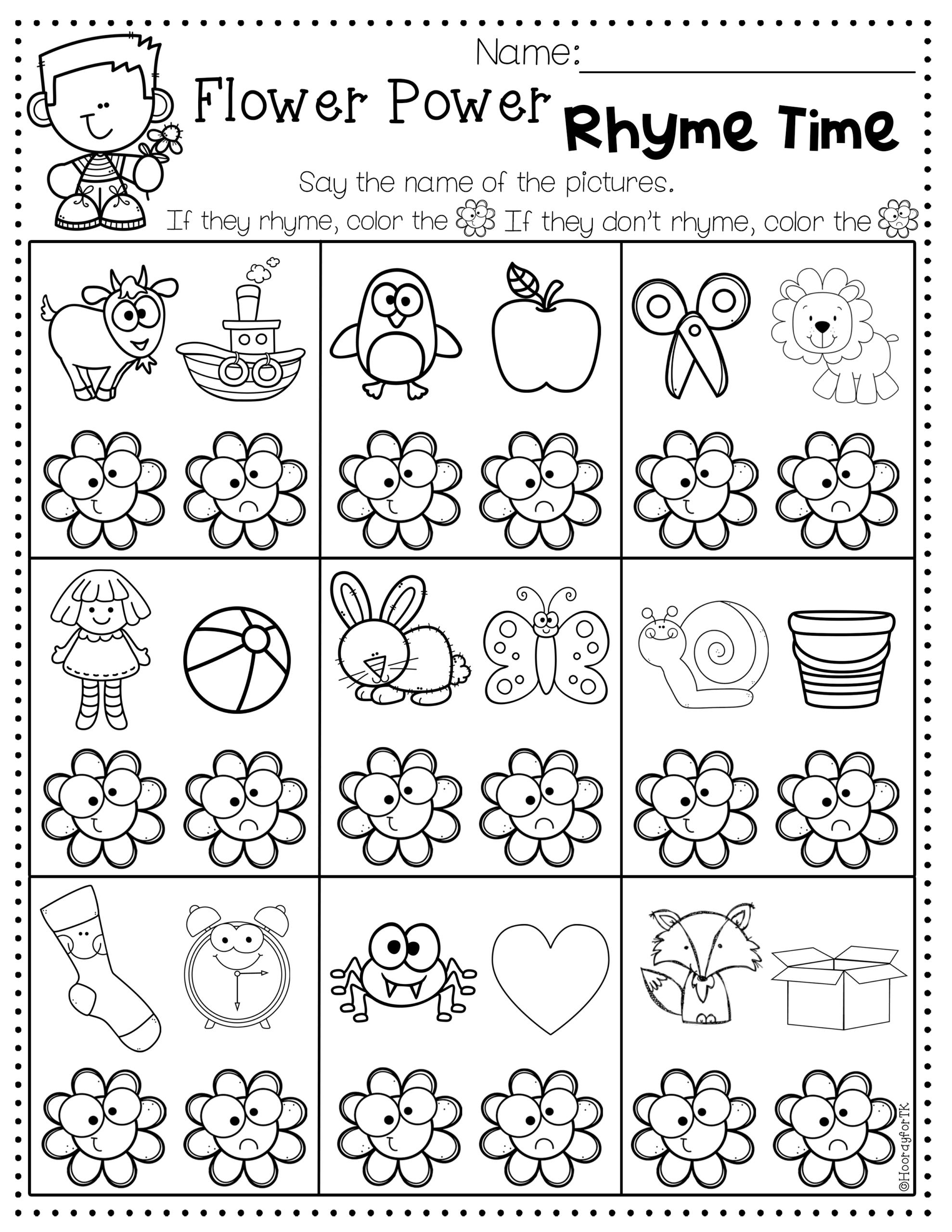Transitional Kindergarten May Worksheets