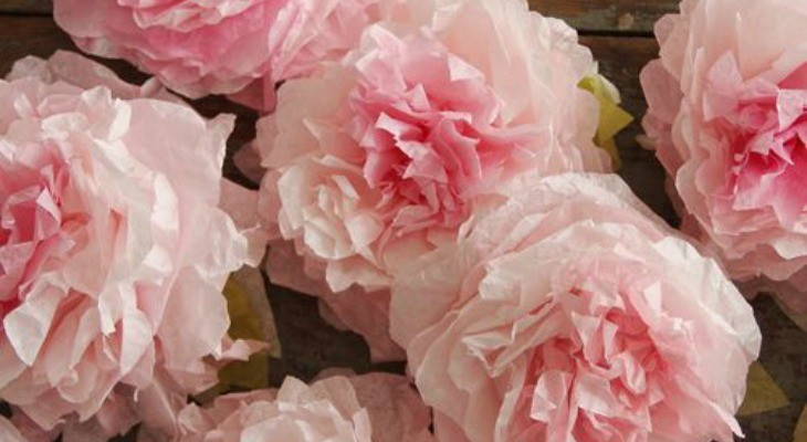 Peony Coffee Filter Flowers: Spring Inspiration