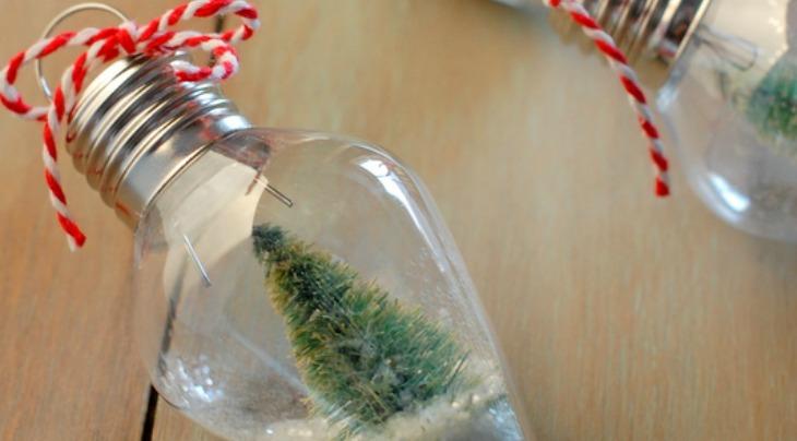 DIY Mini Snow Globe Ornament Holiday Inspiration