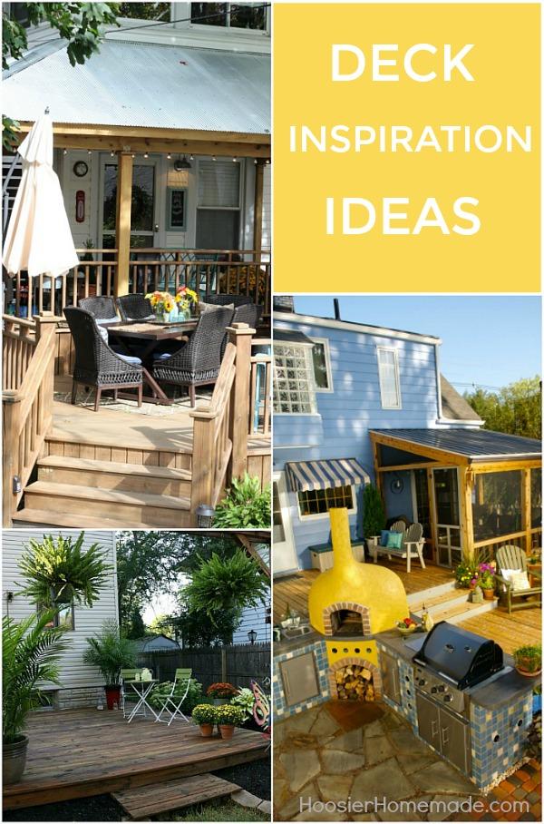 Deck Inspiration Ideas - Hoosier Homemade on Deck Inspiration  id=39201