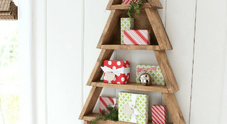 DIY Tree Shelf 100 Days Of Homemade Holiday Inspiration