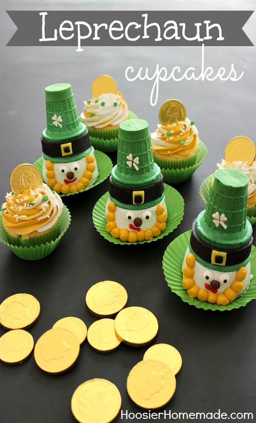 Leprechaun Cupcakes for St. Patrick's Day