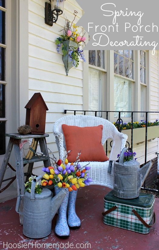 Spring Decoration Idea 4 Eileen S Easter Porch Is A Combo Between Pastel And Bright Springy Colors
