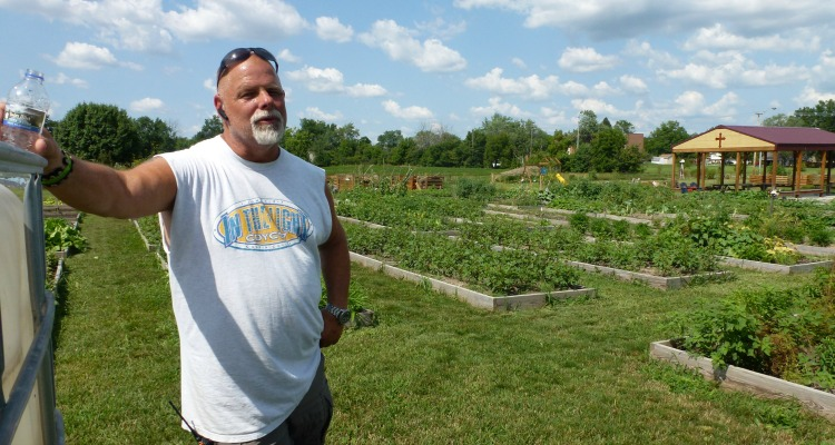 Community gardens at St. Henry's Catholic Church in Ft. Wayne with Paul Gerardot with H-IPL