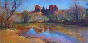 Shortt CATHEDRAL ROCK AND OAK CREEK 10X20 PASTEL