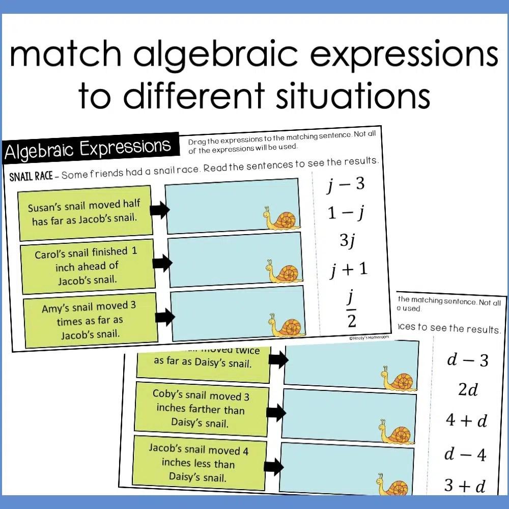 Understanding Algebraic Expressions Using Slides