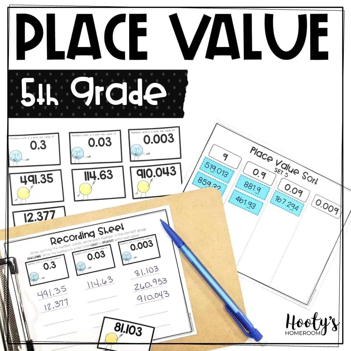 Decimal Place Value Sorts