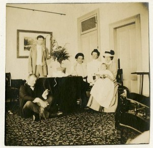The Hoover family, Christmas 1903.