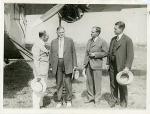 07/18/1926 Anton Fokker with Herbert Hoover. Washington's air passenger service was launched on this day.