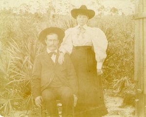 Laura and Almanzo Wilder in Florida, ca. 1892.