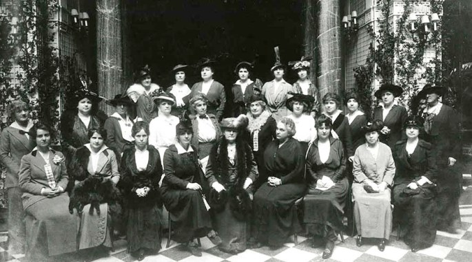 Lou Henry Hoover with the American Relief Committee, ca. 1914.