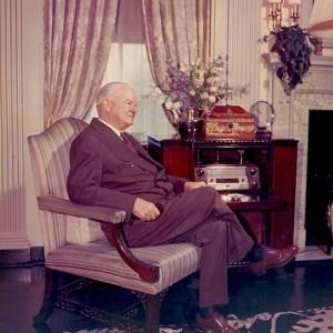 Herbert Hoover at home in his Waldorf Astoria Suite 31-A. ca. 1960