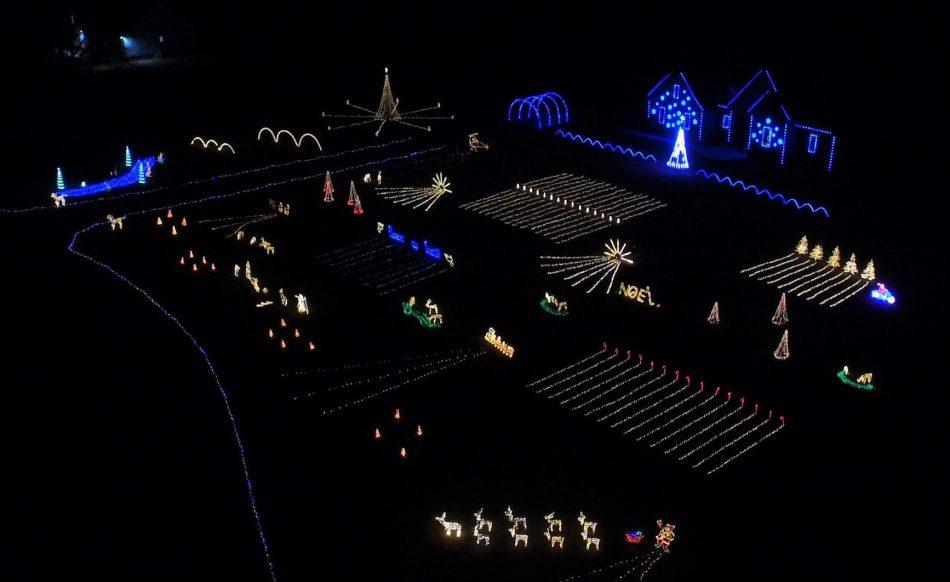 Aerial 2019 Hoover Lights