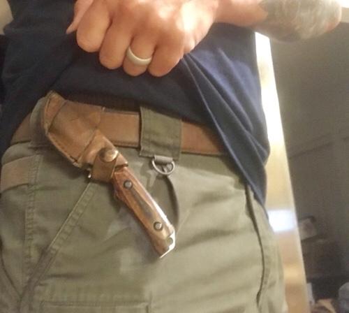 Hidden canyon hunter on belt